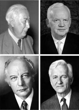 Die Alt-Bundespräsidenten der BRD