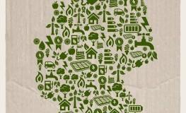 Deutschland Karte Öko - Alternative Energien