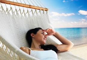 Anguilla, entspannen in der Hängematte