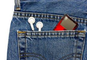 Apple iPod in der Jeanshose