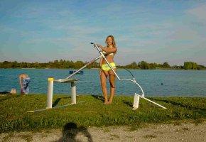 Aquaskipping eine neue Trendsportart