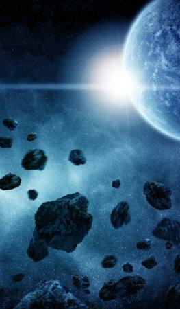 Asteroiden im Weltall