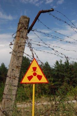 Atom-Warnschilder in Tschernobyl