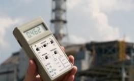 Atomkraftwerk in Tschernobyl - Geigerzähler misst die Radioaktivität