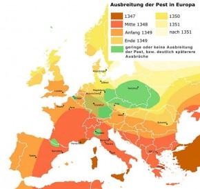 Ausbreitung der Pest in Europa