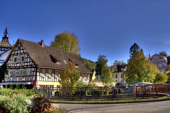 Bad Herrenalb mitten im Ortskern.