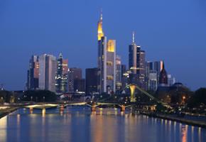 Skyline von Frankfurt und den Privat Banken