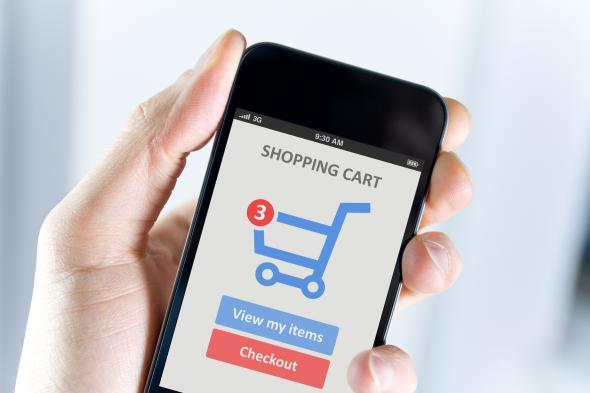 In guten Onlineshops kann man auch mit dem Smartphone bestellen.