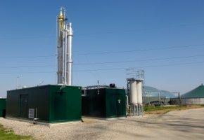 Biogasanlage - Biogasgewinnung aus Klärschlamm