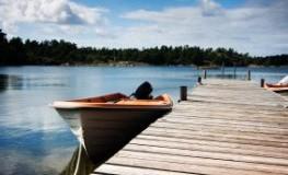 Bootssteg in Schweden - Romantische Lindströmidylle