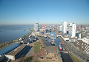 Bremerhaven: Der Hafen von oben