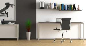 Aufgeräumtes und schönes Büro.