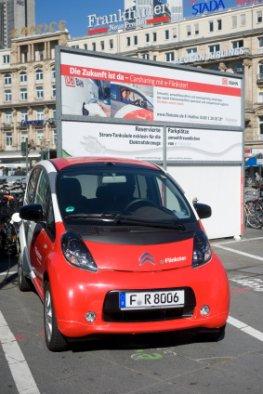 Carsharing e-Flinkster - ein Angebot der Deutschen Bahn