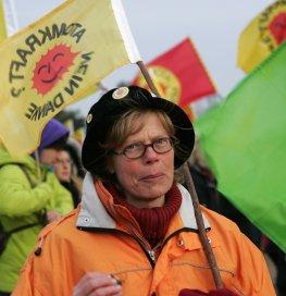 Castor Gegner bei einer Demonstration in Danneberg