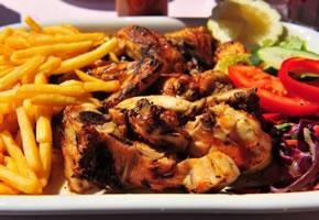 Chicken Piri-Piri typisches Essen in Portugal