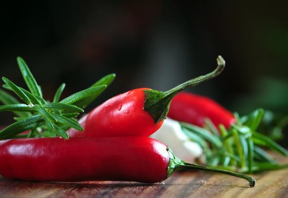 Chilis sind gesund und lecker.