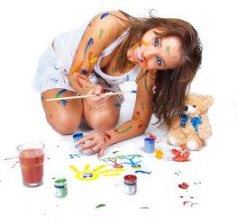 Collagen kann man selber malen