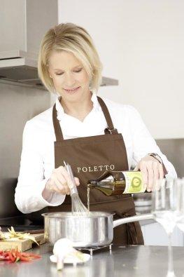 Cornelia Poletto kocht mit Kombucha Quitte von Carpe Diem