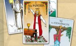 Vier Karten aus dem Tarot
