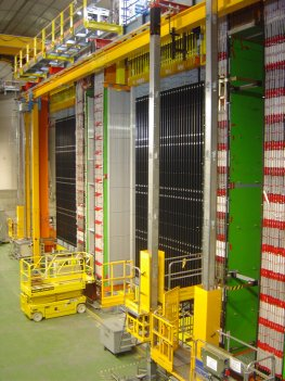 Das Opera-Experiment - Blick auf den Detektor
