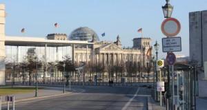 Im Regierungsviertel im Berlin ist nicht viel los derzeit.