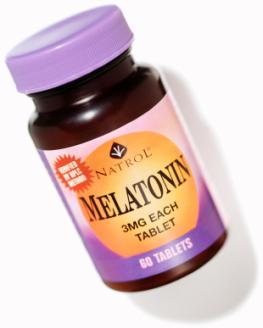 Packung Melatonin Tabletten