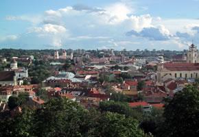 Das Zentrum von Vilnius in Litauen