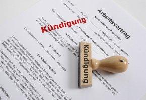 Kündigung: Der Arbeitsvertrag wird aufgekündigt