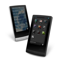 Der Cowon J3 MP3-Player in Schwarz und Weiss