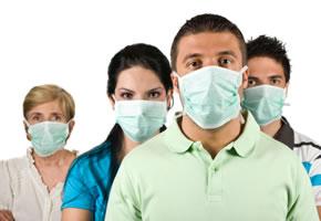 Der FFP3 Masken schützen vor der Schweinegrippe
