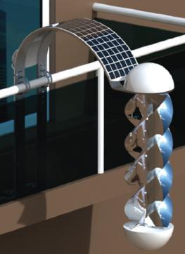 Der Greenerator erzeugt Solar- und Windenergie auf dem Balkon