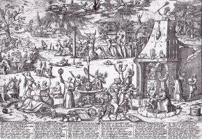Der Hexentanzplatz in Trier im Jahre 1594