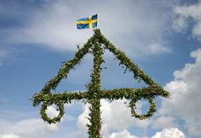 Der Maibaum in Schweden