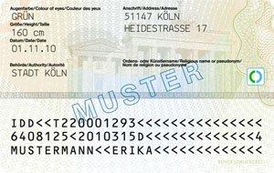 Der neue Personalausweis - Rückseite