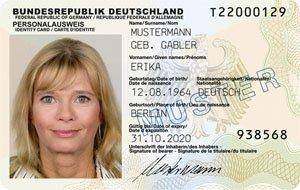 Der neue Personalausweis - Vorderseite