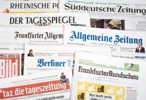 Deutsche Presse - eine Nachricht geht um die Welt