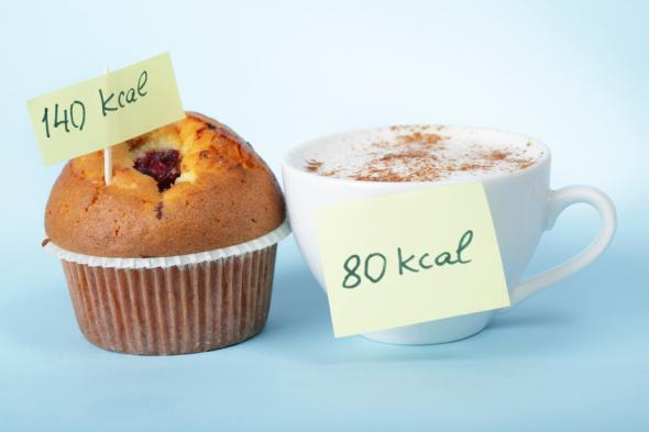 Kalorienbilanz durch zählen der Kalorien.
