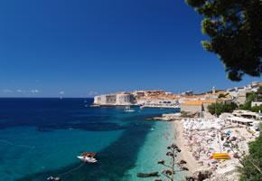 Die Altstadt und Strand in Dubrovnik