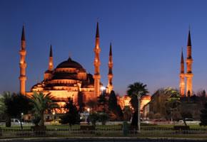 Die Blaue Moschee in Istambul