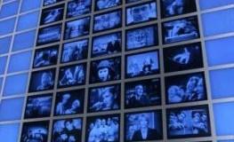 Die blaue Wand im Filmmuseum Kinemathek Berlin