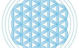 Die Blume des Lebens in Hellblau