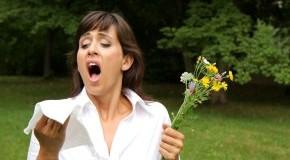 Allergie: Die Frau muss wegen der Blumen niesen
