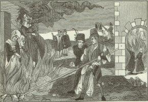 Die Hexenverbrennung - Regenstein (Deutschlan) Anno 1555