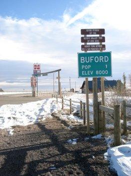 Die Kleinstadt Buford im Bundesstaat Wyoming wurde versteigert