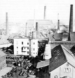 Stahlindustrie - Die Krupp-Werke in Essen im Jahre 1864