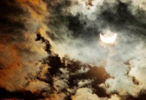 Die Sonnenfinsternis ist ein Naturspektakel