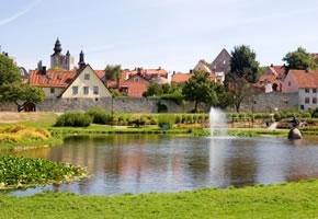Die Stadt Visby auf Gotland