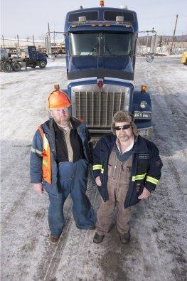 Echte Ice Road Trucker aus der gleichnamigen Fernsehdokumentation