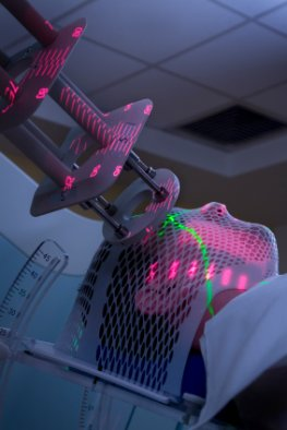 Ein Patient erhält eine Strahlentherapie