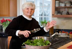 Ein Salat enthält viele Vitamine